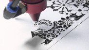 Gia công cắt laser trên giấy